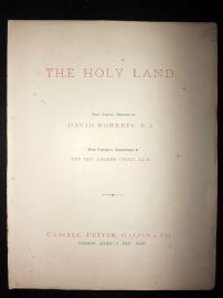 David Roberts 4to 1887 Title Page to The Holy Land